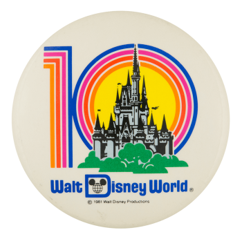 Walt Disney World 10 Entertainment Button Museum