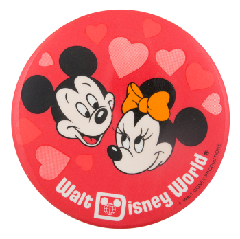 Walt Disney World Hearts Entertainment Button Museum