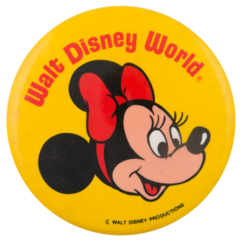 Walt Disney World Minnie Mouse Entertainment Button Museum