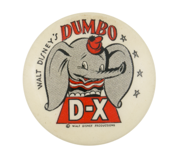 Walt Disney's Dumbo Entertainment Button Museum