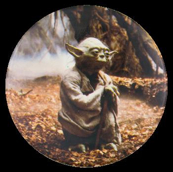 Yoda Star Wars Entertainment Button Museum