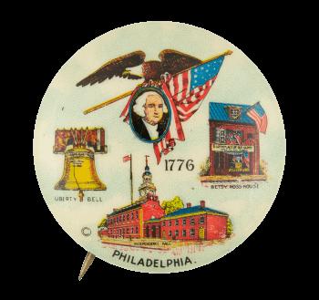 1776 Philadelphia Event Button Museum
