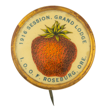 1916 Session Grand Lodge Club Button Museum