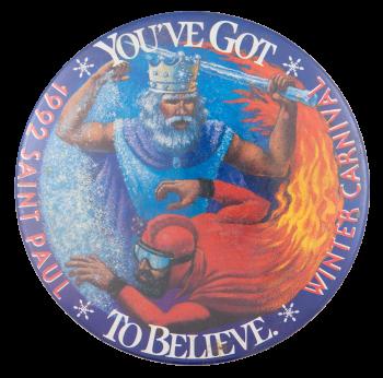 1992 Saint Paul Winter Carnival Event Button Museum