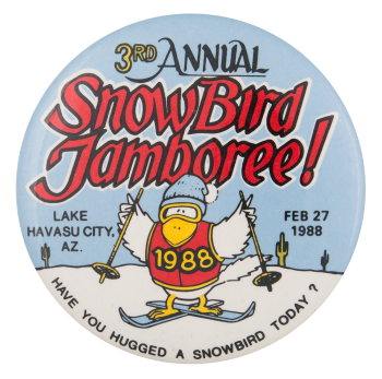 3rd Annual Snowbird Jamboree Event Button Museum