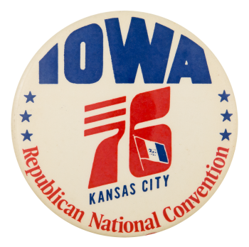 1976 Republican National Convention Kansas Event Button Museum