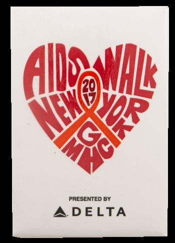 Aids Walk New York Delta Event Busy Beaver Button Museum