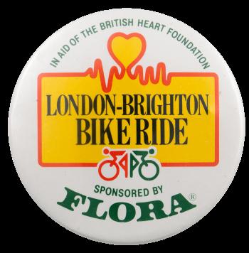 London-Brighton Bike Ride Event Busy Beaver Button Museum