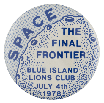 Space Blue Island Event Busy Beaver Button Museum