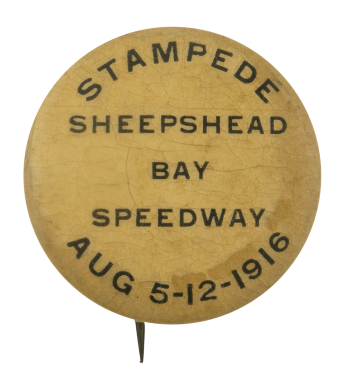 Stampede Sheepshead Bay Speedway Event Busy Beaver Button Museum