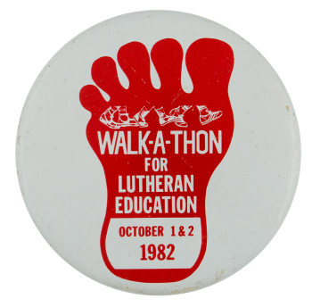Walk-A-Thon for Lutheran Education Event Busy Beaver Button Museum