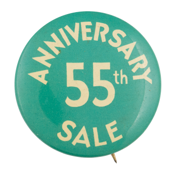 Anniversary Sale Event Button Museum