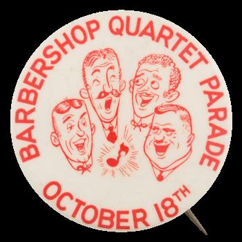 Barbershop Quartet Parade Entertainment Button Museum