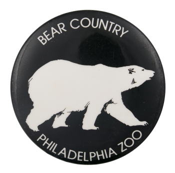 Bear Country Philadelphia Zoo Polar Bear Event Button Museum