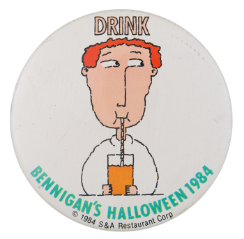 Bennigan's Halloween 1984 Event Button Museum