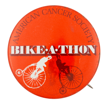 American Cancer Society Bike-a-thon Event Button Museum