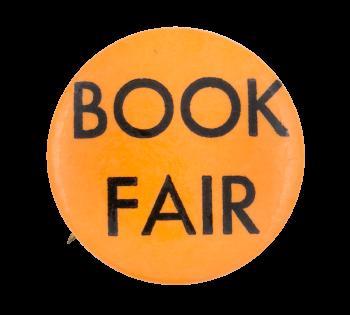 Book Fair Orange Event Button Museum