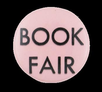 Book Fair Pink Event Button Museum
