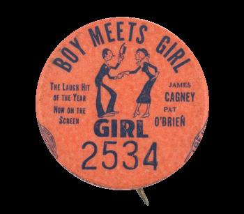 Boy Meets Girl Girl 2534 Event Button Museum