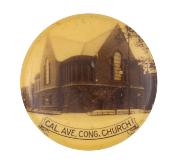 Cal. Ave. Cong. Church Event Button Museum