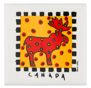 Canada Moose Event Button Museum