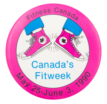 Canada's Fitweek Feet Event Button Museum