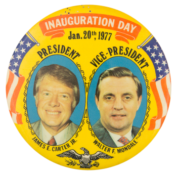 Carter Mondale Inauguration Day Political Button Museum