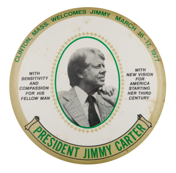 Clinton Massachusetts Welcomes Jimmy Event Button Museum