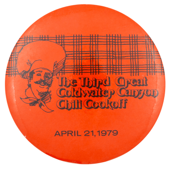 Coldwater Canyon Chili Cookoff Event Button Museum