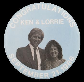 Congratulations Ken & Lorrie Event Button Museum