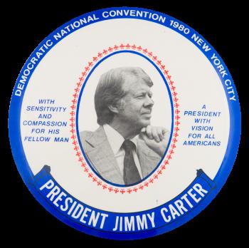 Democratic National Convention 1980 Blue Event Button Museum
