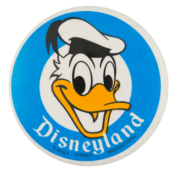 Disneyland Donald Duck Entertainment Button Museum