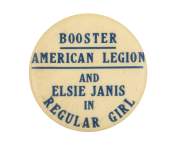 Elsie Janis in Regular Girl Event Button Museum