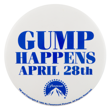 Forrest Gump Gump Happens Events Button Museum