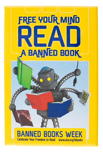 Free Your Mind Read Banned Books Events Button Museum