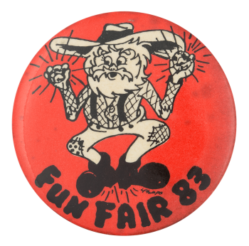 Fun Fair 83 Event Button Museum