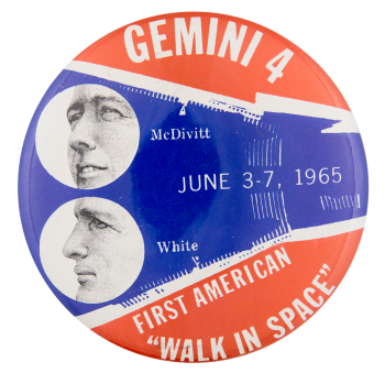 Gemini 4 Walk In Space Events Button Museum