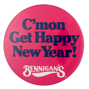 Bennigans New Year Event Button Museum