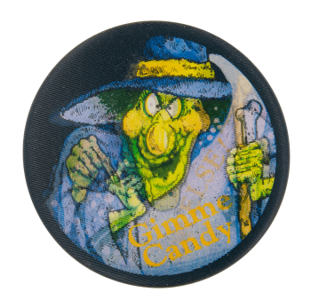 Gimme Candy Witch Event Button Museum