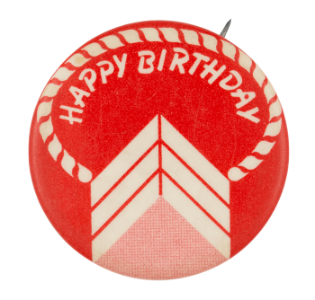 Happy Birthday Red Cake Event Button Museum