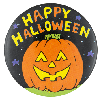 Happy Halloween Jack-O-Lantern Event Button Museum