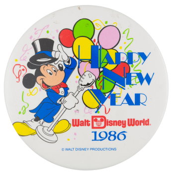 Disney Happy New Year Event Busy Beaver Button Museum