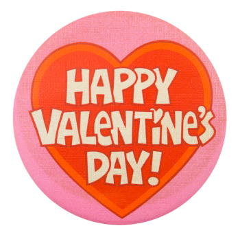 Happy Valentine's Day Heart Event Button Museum