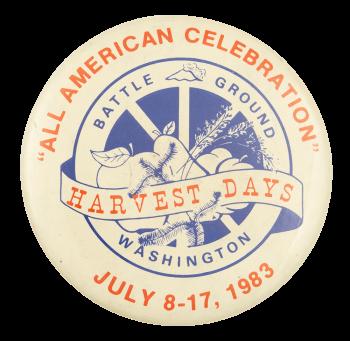 Harvest Days Battle Ground Washington Event Button Museum