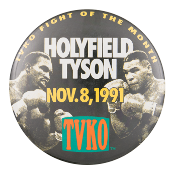 Holyfield Tyson Event Button Museum
