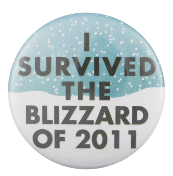 I Survived the Blizzard of 2011 Event Button Museum