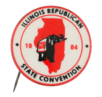 Illinois Republican State Convention 1984 Event Button Museum