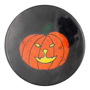 Jack-O-Lantern Illustration Event Button Museum