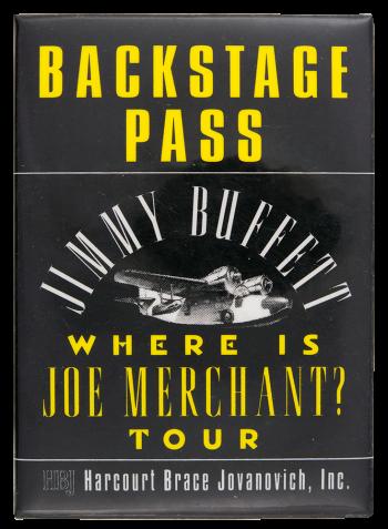 Jimmy Buffet Backstage Pass Event Button Museum