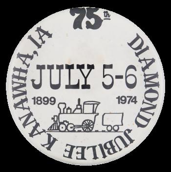 Kanawha Diamond Jubilee Event Button Museum
